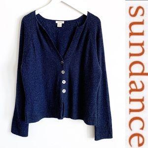 Sundance Merino Wool Button Front Cardigan XL